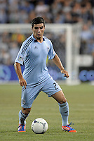 Soony Saad (22) forward Sporting KC in action..Sporting Kansas City and New England Revolution played to a 0-0 tie at LIVESTRONG Sporting Park, Kansas City, KS.