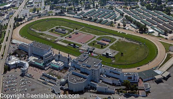 aerial photograph Churchill Downs Thoroughbred racetrack, Louisville, Kentucky
