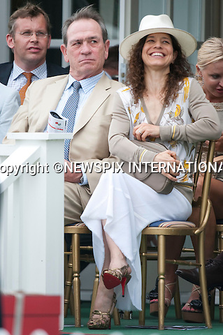 """Tommy Lee Jones.Cartier Polo 2010 at Guards Polo Club, Windsor_25/07/2010..Mandatory Photo Credit: ©Dias/Newspix International..**ALL FEES PAYABLE TO: """"NEWSPIX INTERNATIONAL""""**..PHOTO CREDIT MANDATORY!!: NEWSPIX INTERNATIONAL(Failure to credit will incur a surcharge of 100% of reproduction fees)..IMMEDIATE CONFIRMATION OF USAGE REQUIRED:.Newspix International, 31 Chinnery Hill, Bishop's Stortford, ENGLAND CM23 3PS.Tel:+441279 324672  ; Fax: +441279656877.Mobile:  0777568 1153.e-mail: info@newspixinternational.co.uk"""