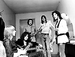 Fleetwood Mac 1969 Danny Kirwan, Jeremy Spencer, John McVie, Mick Fleetwood and Peter Green.<br /> &copy; Chris Walter