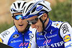 Gianluca Brambilla and Matteo Tentin (ITA) Quick-Step Floors team at sign on before the start of the 2017 Strade Bianche running 175km from Siena to Siena, Tuscany, Italy 4th March 2017.<br /> Picture: Eoin Clarke | Newsfile<br /> <br /> <br /> All photos usage must carry mandatory copyright credit (&copy; Newsfile | Eoin Clarke)