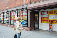 Everything must go at a closing Food Emporium supermarket in Greenwich Village in New York on Saturday, April 20, 2013. (© Richard B. Levine)