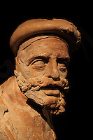 Sculpture of an apostle, probably Judas, 1530-34, in terracotta, from the Last Supper sculptural group by Philip Hodart made in Renaissance Mannerist style for the refectory of the monastery of Santa Cruz in Coimbra, in the Museu Nacional de Machado de Castro, Coimbra, Portugal. The museum was opened in 1913 and renovated 2004-2012. The city of Coimbra dates back to Roman times and was the capital of Portugal from 1131 to 1255. Its historic buildings are listed as a UNESCO World Heritage Site. Picture by Manuel Cohen