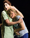 London, UK. 12.10.2015. HOW I LEARNED TO DRIVE, by Paula Vogel, directed by Jack Sain, opens at Southwark Playhouse. Picture shows:  Holly Hayes (Female Greek Chorus) and Olivia Poulet (LI'L BIT). Photograph © Jane Hobson.