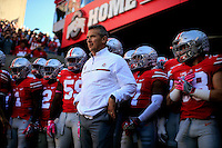 Ohio State Buckeyes head coach Urban Meyer against Indiana Hoosiers during their game in Ohio Stadium in Columbus, Ohio on October 8, 2016.  (Kyle Robertson/ The Columbus Dispatch)