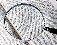 CONVEX LENS OF MAGNIFYING GLASS ENLARGES TYPE<br /> Dictionary Entry - &quot;Magnification&quot;<br /> A typical magnifying glass consists of a single thin bi-convex lens that produces a modest magnification in the range of 1.5x to 30x. It produce a virtual image that is magnified and upright.