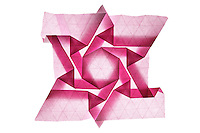 New York, NY, USA - December 14, 2011: Origami tessellation folded by Esmé Cribb.