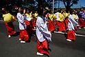 Traditional Yosakoi-in-Oidensai festival in Toyokawa