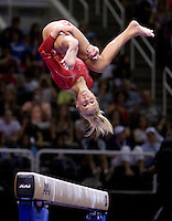 Nastia Liukin of WOGA competes on the beam during 2012 US Olympic Trials Gymnastics Finals at HP Pavilion in San Jose, California on July 1st, 2012.