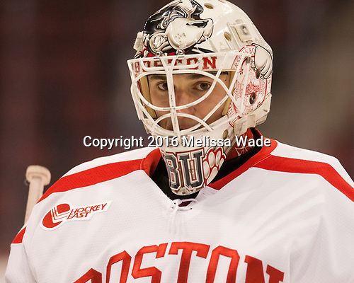 Max Prawdzik (BU - 1) The Boston University Terriers defeated the visiting Yale University Bulldogs 5-2 on Tuesday, December 13, 2016, at the Agganis Arena in Boston, Massachusetts.