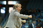 03 January 2016: UNC head coach Sylvia Hatchell won her 700th game at North Carolina with the victory in this game. The University of North Carolina Tar Heels hosted the Clemson University Tigers at Carmichael Arena in Chapel Hill, North Carolina in a 2015-16 NCAA Division I Women's Basketball game. UNC won the game 72-56.