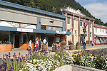 Alaska, Juneau: Shopping in downtown Juneau.  .Photo #: alaska10108 .Photo copyright Lee Foster, 510/549-2202, lee@fostertravel.com, www.fostertravel.com.