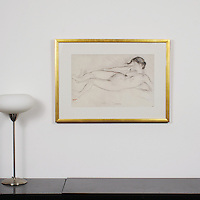 "Degas: ""Study For A Scene Of War"", Digital Print, Image Dims. 21"" x 13.25"", Framed Dims. 29"" x 21"""