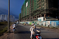 The Phu Hoang Anh building project on Nguyen Huu Tho Street in District 7 in Ho Chi Minh City, Vietnam...Photo taken Wednesday, November 11, 2009. Kevin German / Luceo Images