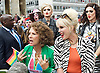 Pride London <br /> setting up before the Parade and during the Parade <br /> London, Great Britain <br /> 25th June 2016 <br /> <br /> Jennifer Saunders and Joanna Lumley <br /> as their AbFab characters <br /> promoting the AbFab film. <br /> <br /> <br /> Photograph by Elliott Franks <br /> Image licensed to Elliott Franks Photography Services