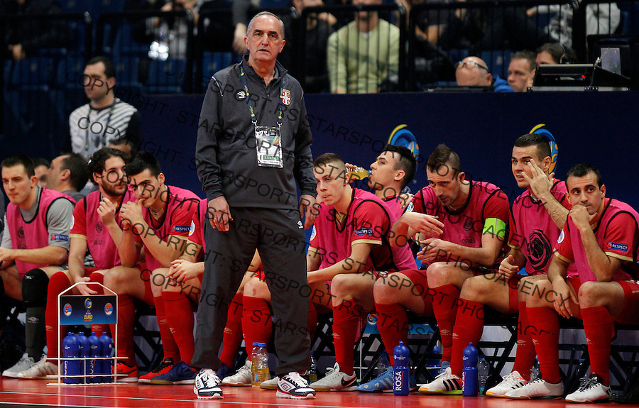 Aca Kovacevic UEFA Euro 2016 Futsal Evropsko Prvenstvo, Srbija - Slovenija 2.2.1016. Februar 2. 2016. (credit image & photo: Pedja Milosavljevic / STARSPORT)