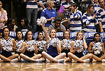 15 February 2012: Duke cheerleaders. The Duke University Blue Devils defeated the Virginia Tech Hokies 67-45 at Cameron Indoor Stadium in Durham, North Carolina in an NCAA Division I Women's basketball game.