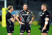 Ben White of Exeter Chiefs looks dejected after the match. Aviva Premiership match, between Exeter Chiefs and Bath Rugby on October 30, 2016 at Sandy Park in Exeter, England. Photo by: Patrick Khachfe / Onside Images