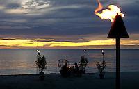 DINER AT THE BEACH PALAU, MICRONESIA