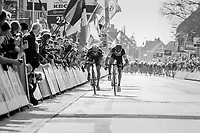 In a sprint with 2 Greg Van Avermaet (BEL/BMC) beats compatriot Jens Keukeleire (BEL/Orica-Scott) to the line<br /> <br /> 79th Gent-Wevelgem 2017 (1.UWT)<br /> 1day race: Deinze &rsaquo; Wevelgem - BEL (249km)