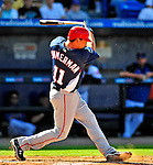 7 March 2009: Washington Nationals' third baseman Ryan Zimmerman in action during a Spring Training game against the New York Mets at Tradition Field in Port St. Lucie, Florida. The Nationals defeated the Mets 7-5 in the Grapefruit League matchup. Mandatory Photo Credit: Ed Wolfstein Photo