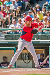 21 March 2015: Washington first baseman Mike Carp in action during a Spring Training Split Squad game against the Atlanta Braves at Champion Stadium at the ESPN Wide World of Sports Complex in Kissimmee, Florida. The Braves defeated the Nationals 5-2 in Grapefruit League play. Mandatory Credit: Ed Wolfstein Photo *** RAW (NEF) Image File Available ***