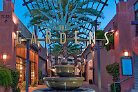 The Gardens, El Paseo Drive, Palm Desert, CA, Boutiques; famous; retailers; fashion; haute couture, Restaurants, ; shopping; Mannequins; near Palm Springs; Palm Trees; California; Coachella Valley; Desert;