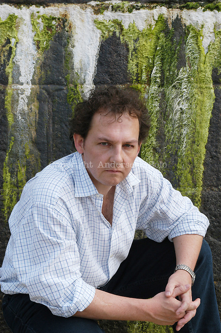 english author Giles Foden at Saint Malo book fair, France.