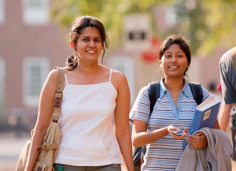 18439 Campus Fall 2007...Deepika Singh and Sulalita Chaki(right)