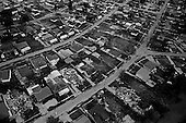 New Orleans, Louisiana.USA.July 31, 2006..Aerials of New Orleans nearly one year after hurricane Katrina hit and the levees broke. Nearly 80% of the city was flooded...Saint Bernard's Parish is seen with many of the homes taken down and demolished but with the remains still needing to be removed....