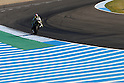 May 2, 2010 - Jerez, Spain  - Monster Yamaha Tech 3 team's American Colin Edwards powers his bike during Spanish Grand Prix race at Jerez de la Frontera's circuit on May 2, 2010. (Photo Andrew Northcott/Nippon News)..