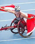 RIO DE JANEIRO - 10/9/2016:  Michelle Stilwell wins gold in the Women's 400m - T52 Final at the Olympic Stadium during the Rio 2016 Paralympic Games. (Photo by Matthew Murnaghan/Canadian Paralympic Committee