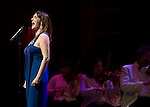 Wicked Diva's Alli Mauzey and Julia Murney performing at the Pacific Symphony's opening night pops concert the the Pacific Symphony and conductor Richard Kaufman.
