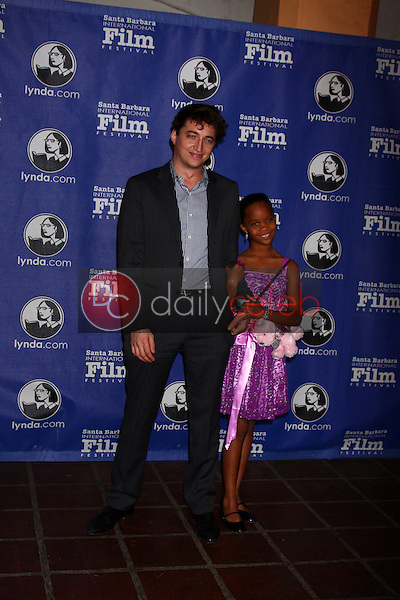 Benh Zeitlin, Quvenzhane Wallis<br /> at the Santa Barbara International Film Festival&rsquo;s 2013 Virtuosos Award, Arlington Theater, Santa Barbara, CA 01-29-13<br /> David Edwards/DailyCeleb.com 818-249-4998