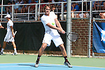 09 May 2015: Robin Haden (SWE). The University of North Carolina Tar Heels hosted the Mississippi State University Bulldogs at Cone-Kenfield Tennis Center in Chapel Hill, North Carolina in a 2015 NCAA Division I Men's Tennis Tournament Second Round match. UNC won the match 4-1.