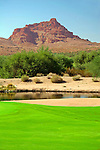 USA, Arizona, Fountain Hills. The golf course at We-Ko-Pa, part of the Radisson Fort McDowell Resort &amp; Casino operated by the Yavapai Nation.