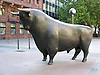Bull in front of the stock market in Frankfurt on the Main - symbol for the up at the financial market<br /> <br /> Toro en Fr&aacute;ncfort del Meno - s&iacute;mbolo para el arriba en el mercado financiero<br /> <br /> Bulle vor der Frankfurter B&ouml;rse - Symbol f&uuml;r das Auf am Finanzmarkt<br /> <br /> 1600 x 1200 px<br /> 150 dpi: 27,09 x 20,32 cm<br /> 300 dpi: 13,55 x 10,16 cm