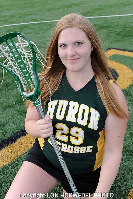 Huron High School girl's junior varsity lacrosse team.