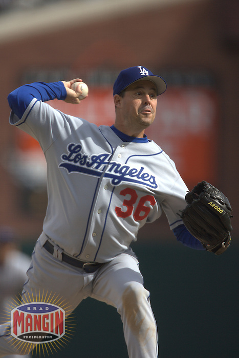 Greg Maddux. Baseball: Los Angeles Dodgers vs San Francisco Giants at AT&T Park in San Francisco, CA on September 30, 2006. Photo by Brad Mangin