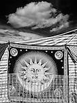 Sun on decorative sheet