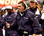 Broncos head coach Mike Shanahan on Sunday, November 30, 2003, in Oakland, California. The Broncos defeated the Raiders 22-8.