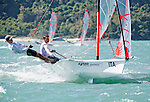 Italy29erMenCrewITALC106LeonardoChiste<br /> Italy29erMenHelmITAFZ28FedericoZampiccoli<br /> Day2, 2015 Youth Sailing World Championships,<br /> Langkawi, Malaysia