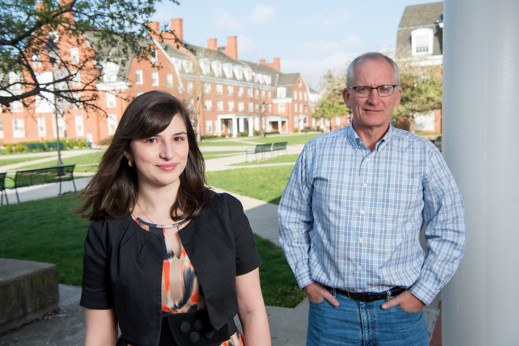 Graduate student Raisa Ray and professor Steven Evans, Department of Psychology. Raisa has just won the prestigious and highly competitive MAGS Award for best thesis in the Midwest. They study children and adolescents with ADHD.