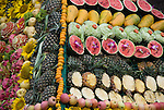 Mixed Fruit Displayed for the Monkeys to Eat