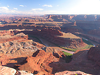 View of Colorado River from Overlook at Dead Horse Point State Park, Utah, USA