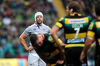 Dave Attwood of Bath Rugby looks on during a break in play. Aviva Premiership match, between Northampton Saints and Bath Rugby on September 3, 2016 at Franklin's Gardens in Northampton, England. Photo by: Patrick Khachfe / Onside Images