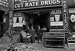 Pittsburgh PA:  Weinberger's Cut Rate Drug Store on Market Street after the flood - 1936.   About 100,000 buildings were destroyed and the damage was estimated at about $250 million. Sixty five percent of the downtown business district had been under water from the Point all the way up to Grant Street.