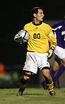 Western Illinois's goalkeeper Dave Hanlon on Tuesday, October 11th, 2005 at Duke University's Koskinen Stadium in Durham, North Carolina. The Duke University Blue Devils defeated the Western Illinois Leathernecks 2-0 during an NCAA Division I Men's Soccer game.