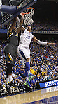 UK's Willie Cauley-Stein blocks a shot from Mizzou's Tony Criswell. in Lexington, Ky., on Saturday, February, 23, 2013. Photo by James Holt | Staff