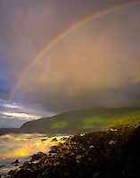 Rainbow at Tufu Point View National Park of American Samoa, American Samoa South Pacific Ocean, Ta'u Island, Manu'a Is. 45V Official U.S. National Park Jan.